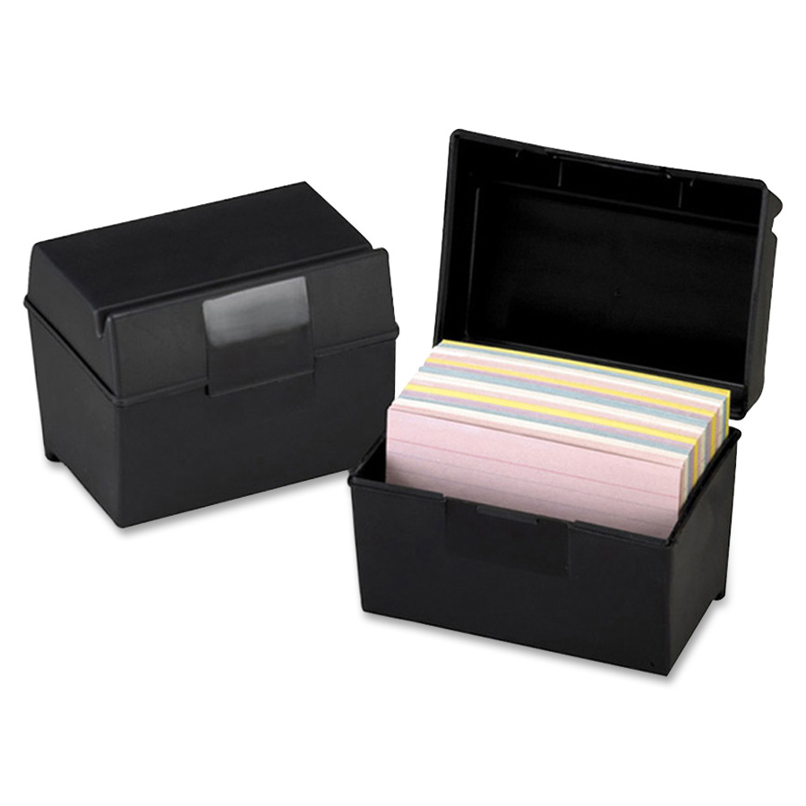 Oxford Plastic Index Card Box With Lid Oxf01461