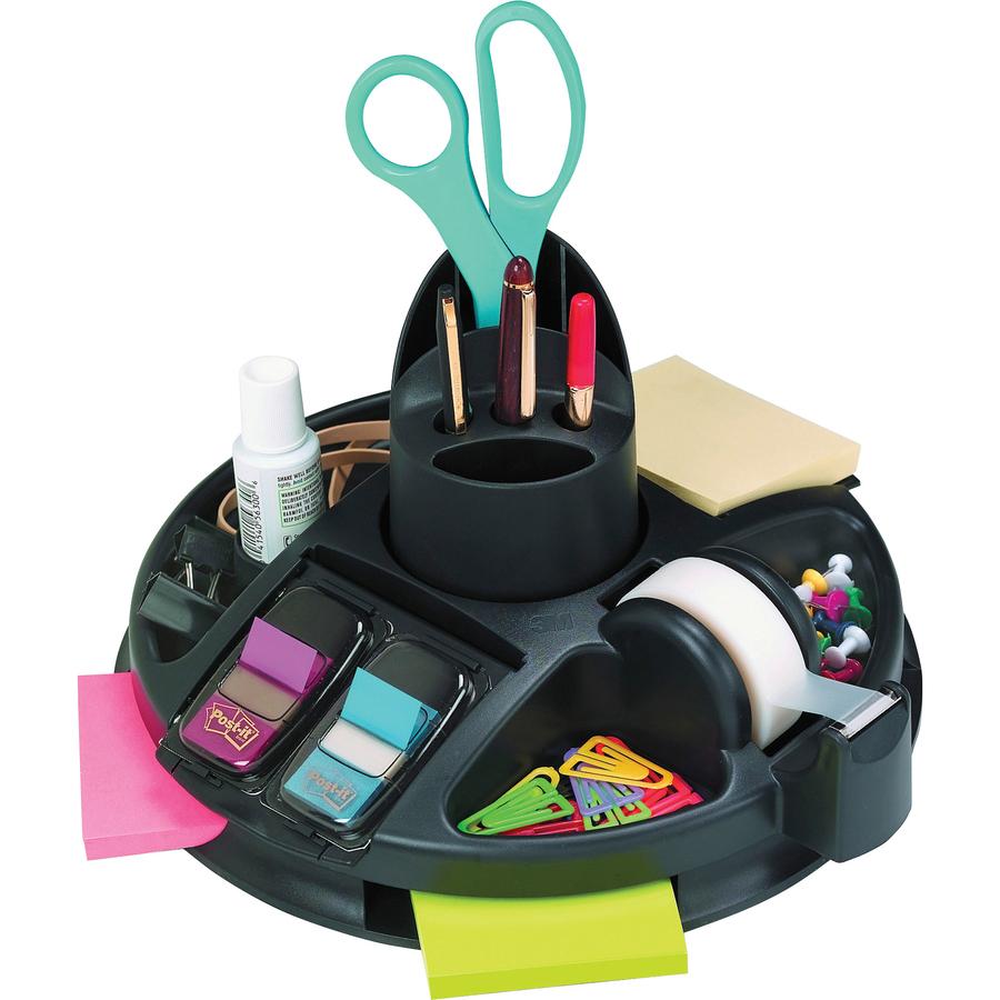 3m rotary desktop organizer office church school supply