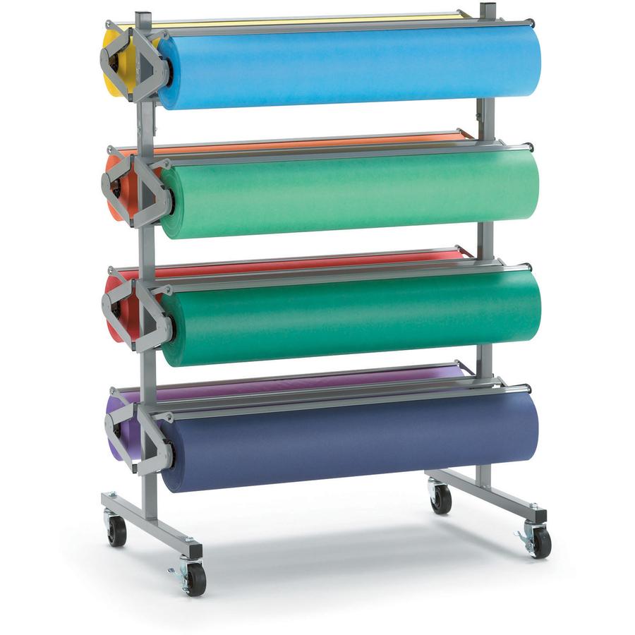 Pacon Horizontal Art Paper Roll Dispenser 8 Roll(s)   1 Each   Gray