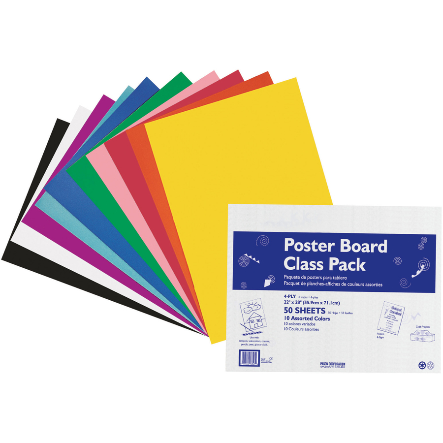 Pacon Peacock Poster Board Class Pack - PAC76347 ...