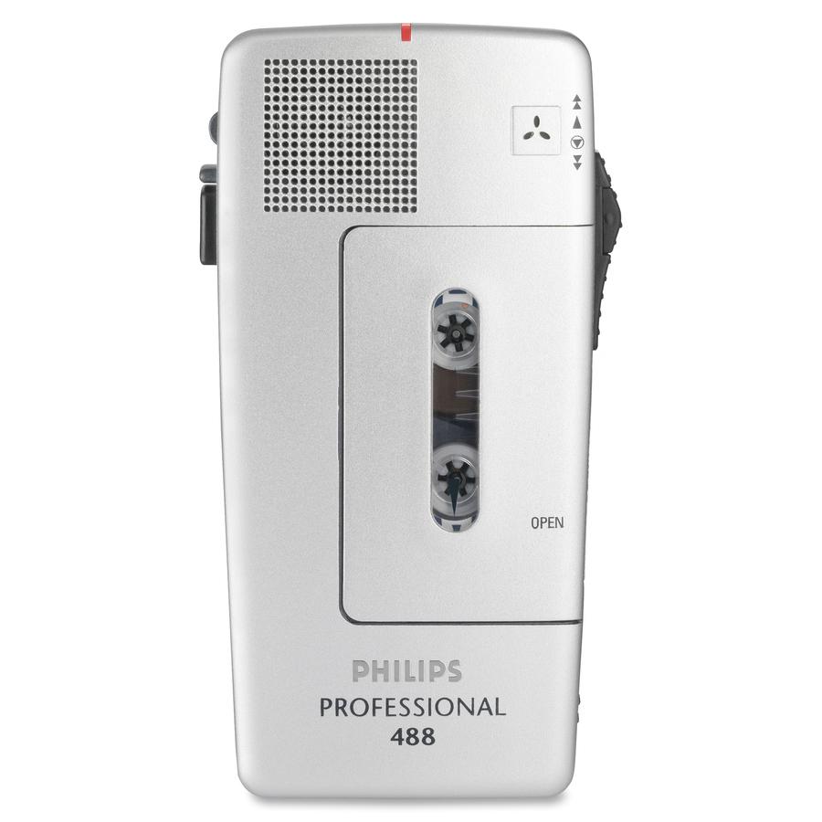 Philips PM488 Minicassette Voice Recorder Headphone Portable #7C524F