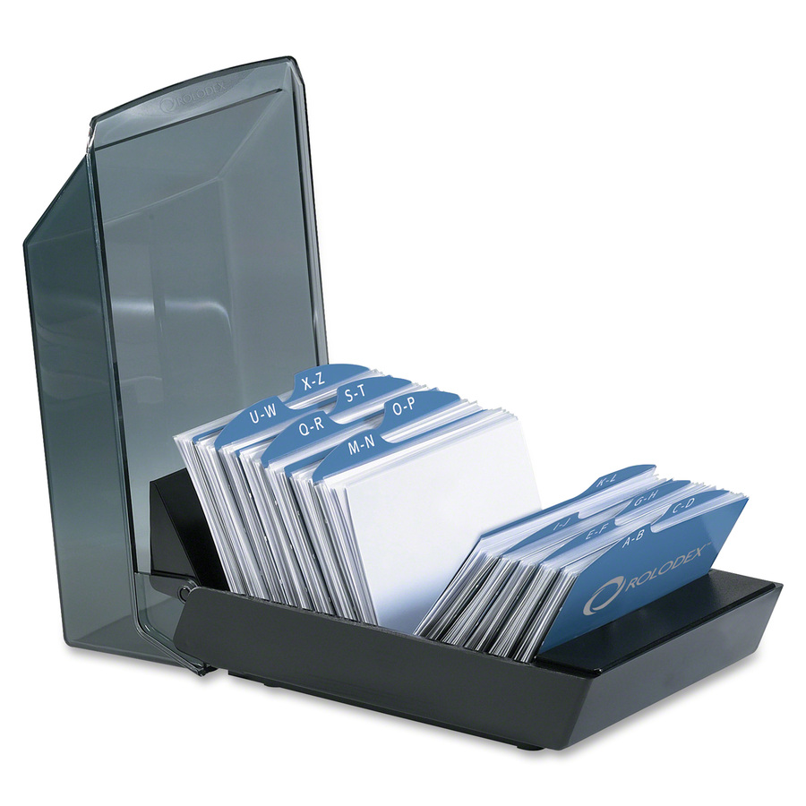 rolodex covered business card file rol