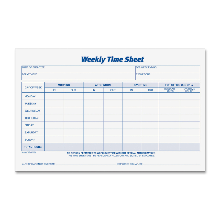 time sheet forms