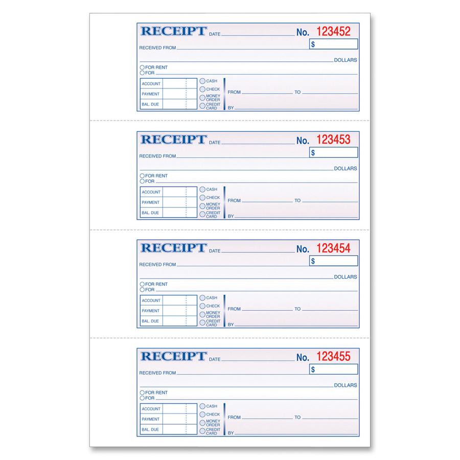 TOPS Money/Rent Receipt Book - Servmart