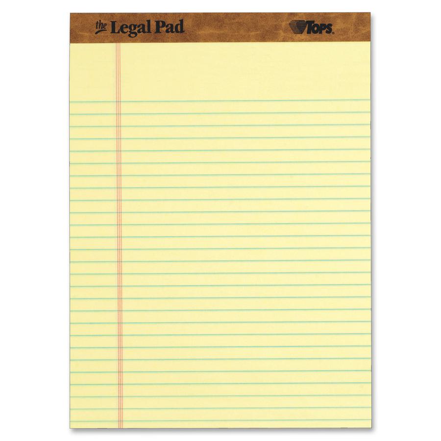 Tops Letr Trim Perforated Legal Pads Top7532