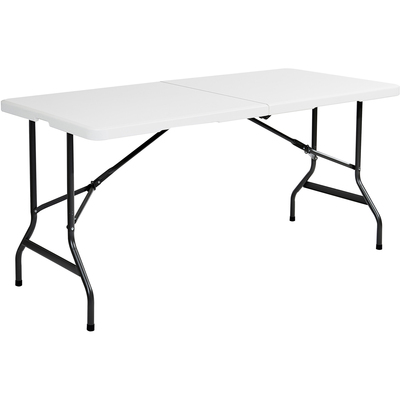 indestructables too bifold resin folding table 60w x 30d x 29h platinum