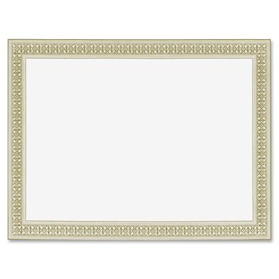 8-1//2 x 11 12//Pack Foil Enhanced Certificates Gold Flourish Border