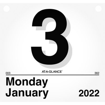 At-A-Glance Today Is Daily Wall Calendar Refill 8 1//2 x 8 White 2019 K450