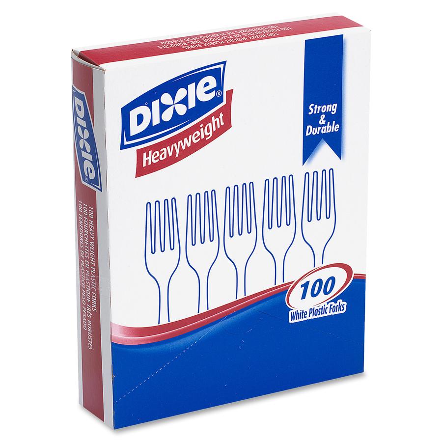 Dixie® White Heavy Weight Polystyrene Forks