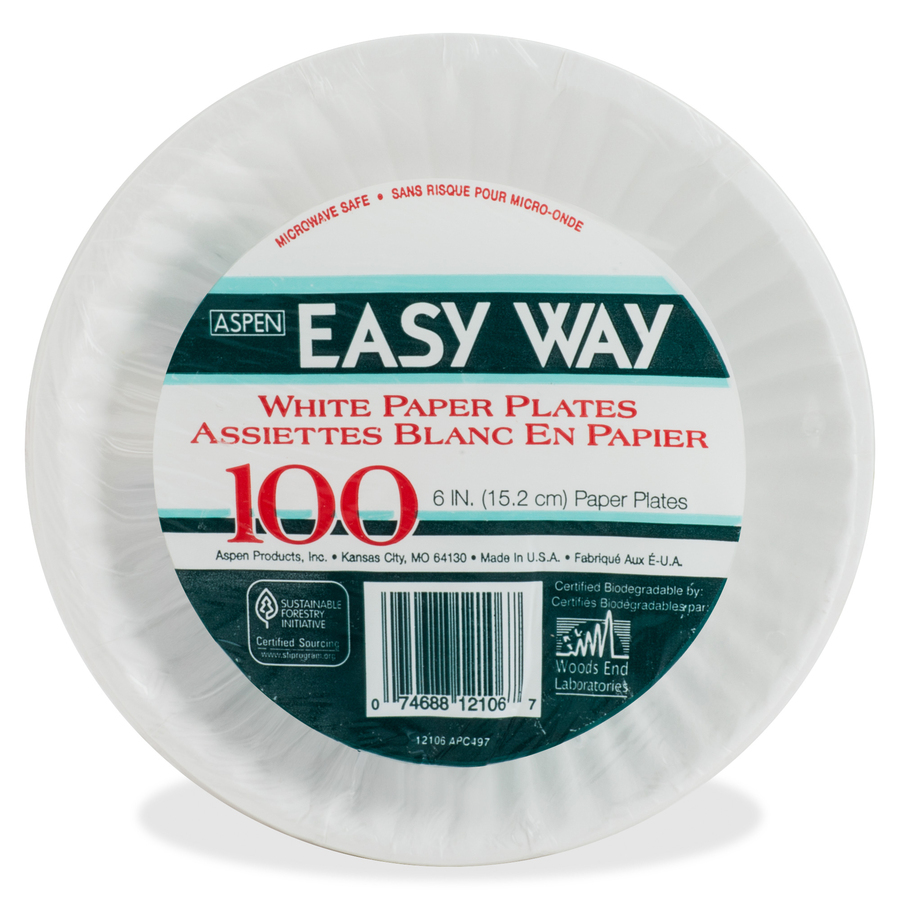 In-Package Out-of-Package ...  sc 1 st  ICC Business Products & AJM Packaging Green Label Economy Paper Plates - ICC Business ...