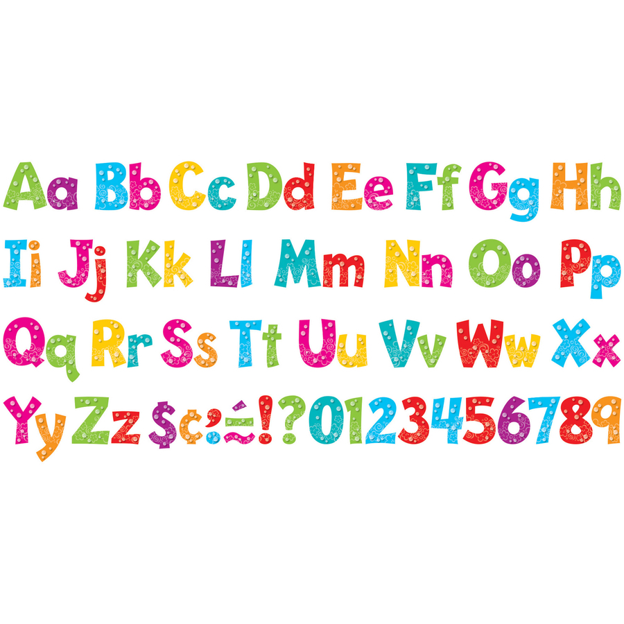 Trend Bubbles Design  Ready Letters Pack  Mac Papers Inc