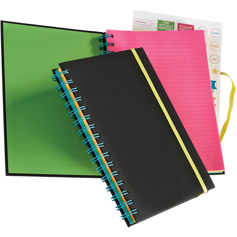 Astrobrights Twin Wire Journal with Black Soft-touch Cover - Mac ...