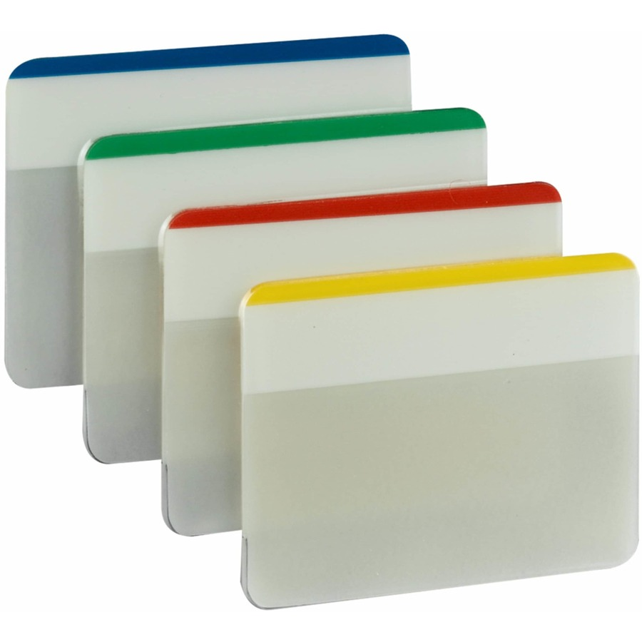 Post-it Tabs, 2 Inch Lined, Assorted Primary Colors, 6/Color, 4 Colors, 24/Pk