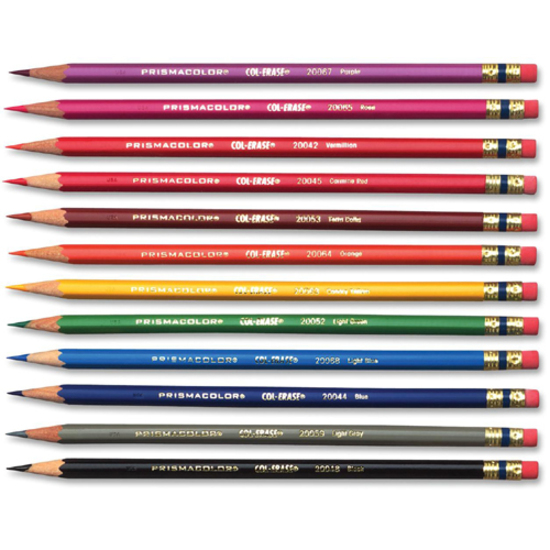 Prismacolor Col-Erase Pencils Tuscan Red, Terracotta, Blue, Carmine