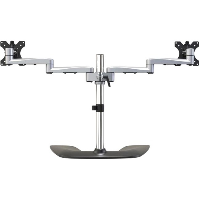 StarTech.com Dual Monitor Stand - Ergonomic Desktop Monitor Stand for up to 32 inch VESA Displays - Free-Standing Adjustable Mount -Silver_subImage_3
