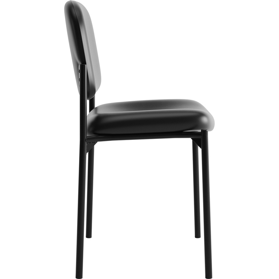 basyx by hon leather guest chair w o arms bsxvl606sb11