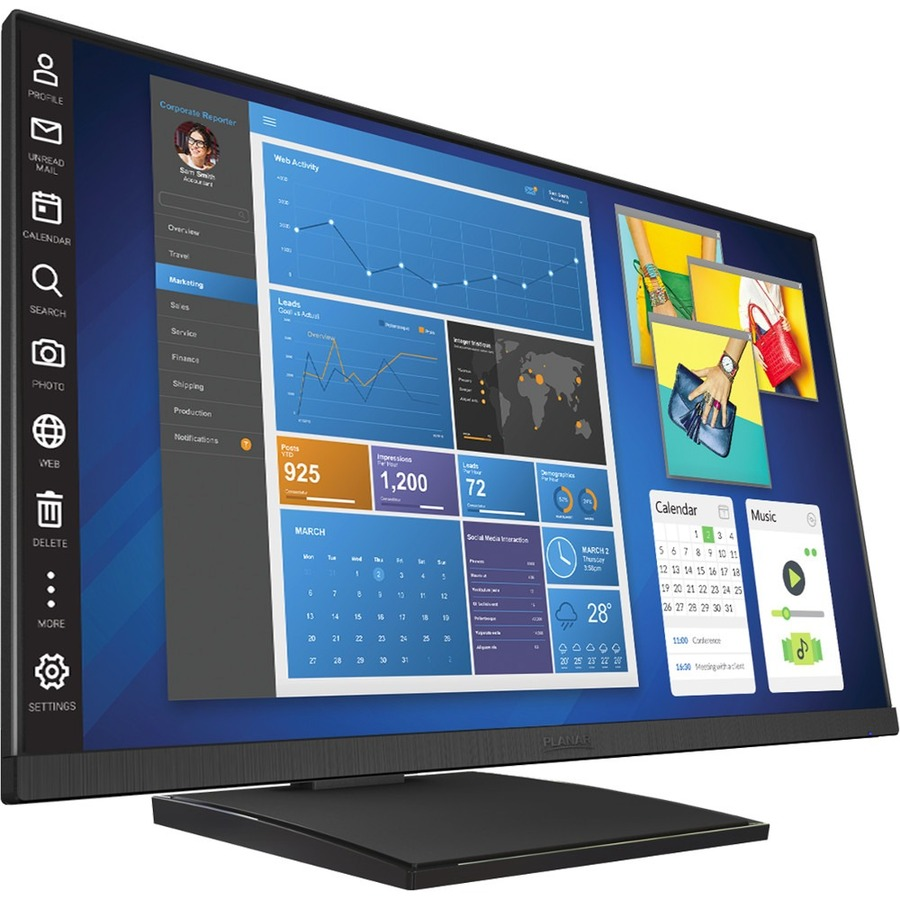 """Planar Helium PCT2435 23.8"""" LCD Touchscreen Monitor - 16:9 - 14 ms_subImage_3"""