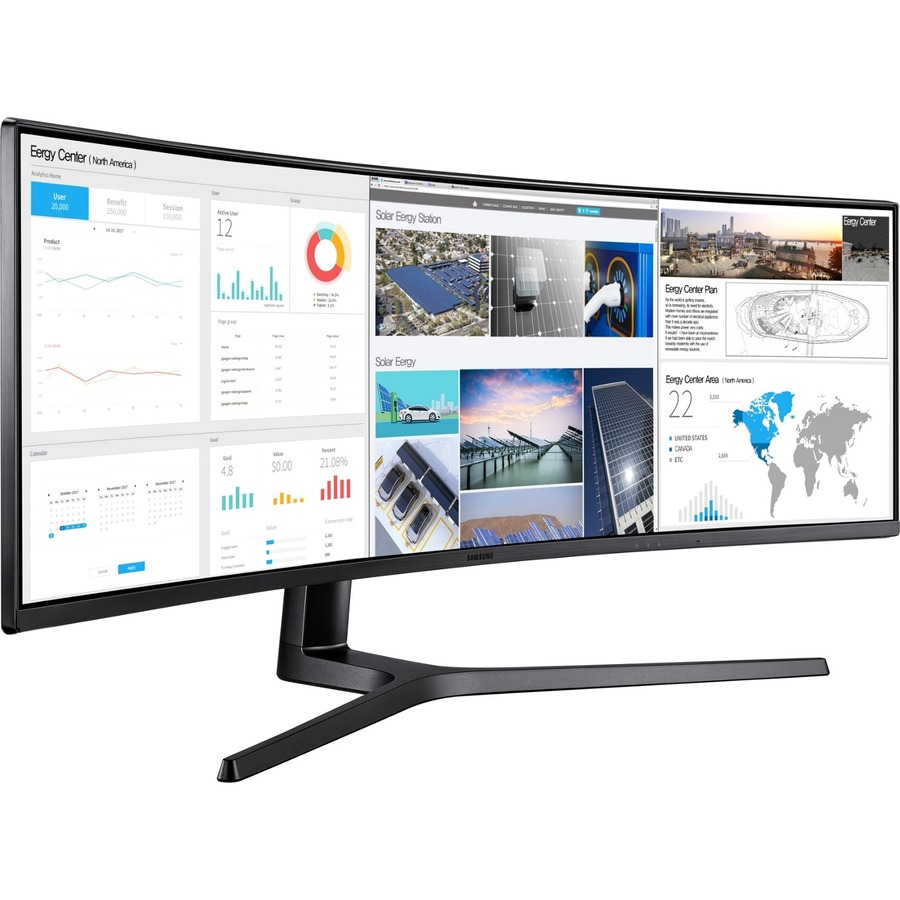"""Samsung C49J89 49"""" Double Full HD (DFHD) Curved Screen LED LCD Monitor - 32:9 - Charcoal Black Hairline, Titanium_subImage_4"""