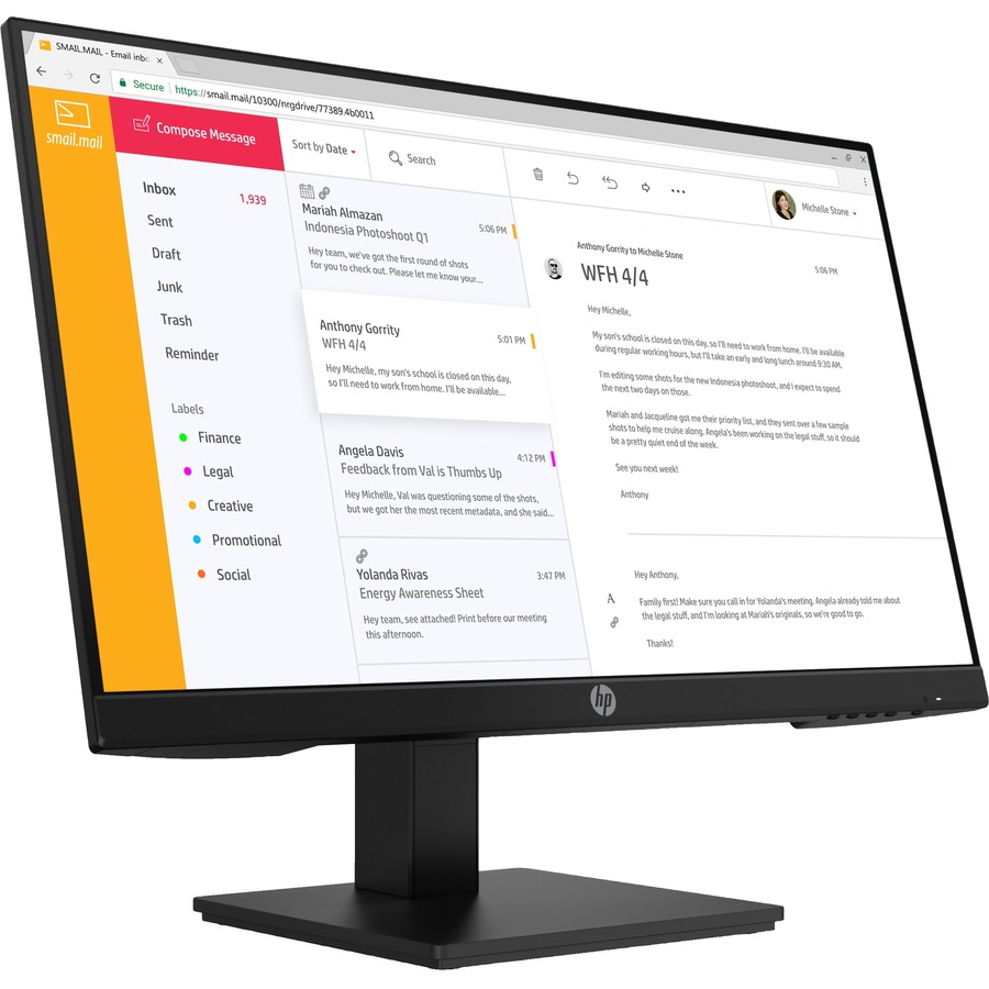 "HP P24 G4 23.8"" Full HD LCD Monitor - 16:9_subImage_5"