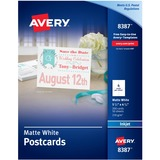 Avery Perforated Inkjet Postcard