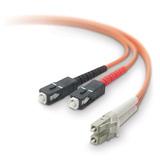 2M DUPLEX FIBER OPTIC CABLE MMF LC/SC 50/125 ROHS