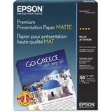 Premium Matte Presentation Paper, 45 lbs., 11 x 14, 50 Sheets/Pack  MPN:S041468