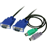 StarTech.com 15 ft 3-in-1 Ultra Thin PS/2 KVM Cable