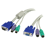 StarTech.com 15 ft 3-in-1 PS/2 KVM Extension Cable 3N1PS2EXT15