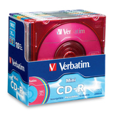 Verbatim 94335 CD Recordable Media - CD-R - 32x - 185 MB - 10 Pack Slim Case 94335