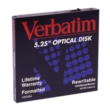 "Verbatim 5.25"" Magneto Optical Media 87896"