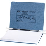 Acco Presstex Recycled Data Binder with Hooks - 8.5' x 11.75' - 6' Capacity - 1 Each - Light Blue