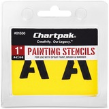 Chartpak Painting Letters & Numbers Stencil