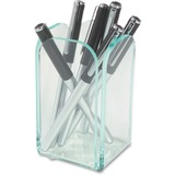 Deflect-o Glasstique Pencil Cup - Acrylic - Green, Clear