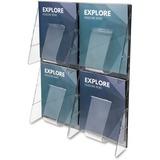 Deflect-o 4-Pocket Clear Literature Rack 56001