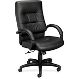Basyx by HON VL691 Executive Plush Leather High-Back Desk Chair VL691SP11