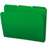 Smead Inndura File Folder - 0.75' Expansion - 1/3 Cut Tab - 8.5' x 11' - Letter - 24 / Box - Green