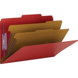 Smead 19031 Bright Red Colored Pressboard Classification Folders with SafeSHIELD Fasteners 19031