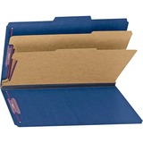 Smead 19035 Dark Blue Colored Pressboard Classification Folders with SafeSHIELD Fasteners 19035