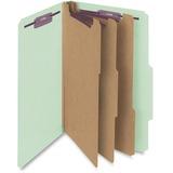 Smead 19091 Gray/Green Pressboard Classification Folder with SafeSHIELD Fasteners 19091