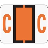 Smead 67073 Dark Orange BCCR Bar-Style Color-Coded Alphabetic Label - C 67073