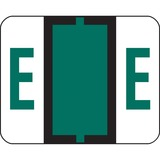 Smead 67075 Dark Green BCCR Bar-Style Color-Coded Alphabetic Label - E 67075