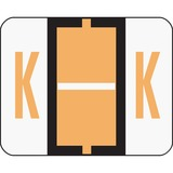 Smead 67081 Light Orange BCCR Bar-Style Color-Coded Alphabetic Label - K 67081