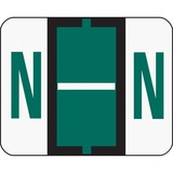 Smead 67084 Dark Green BCCR Bar-Style Color-Coded Alphabetic Label - N 67084