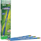 Dixon Ticonderoga Eraser Tipped Checking Pencils - Blue Lead - 12 / Dozen