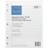Sparco Notebook Filler Paper - 200 Sheet(s) - 16lb - Wide Ruled - 8 x 10.5 - 200 / Pack - White
