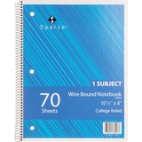 Sparco Quality Wirebound 1-Subject Notebook 83253