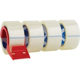 Sparco Heavy Duty Packaging Tape - 2' Width x 55yd Length - 3' Core - Dispenser Included - 4 / Pack - Clear
