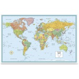 Rand McNally Deluxe Laminated World Wall Map