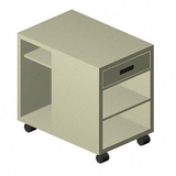 Lorell Mobile Machine Stand - Gray
