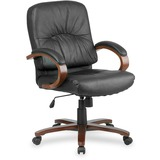 Lorell Woodbridge Managerial Mid-Back Chair